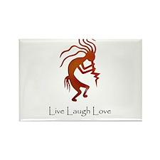 Kokopelli Live Laugh Love Rectangle Magnet