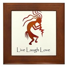 Kokopelli Live Laugh Love Framed Tile