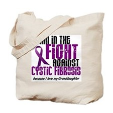 In The Fight Against CF 1 (Granddaughter) Tote Bag
