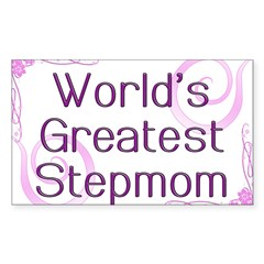 World's Greatest Stepmom Rectangle Sticker 10 pk)