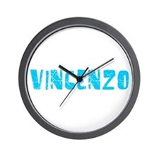 Vincenzo Faded (Blue) Wall Clock