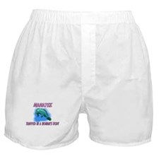 Manatee Trapped In A Woman's Body Boxer Shorts