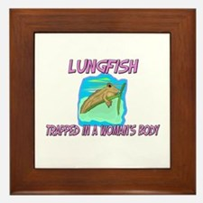 Lungfish Trapped In A Woman's Body Framed Tile