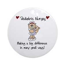 Pediatric Nurse Ornament (Round)