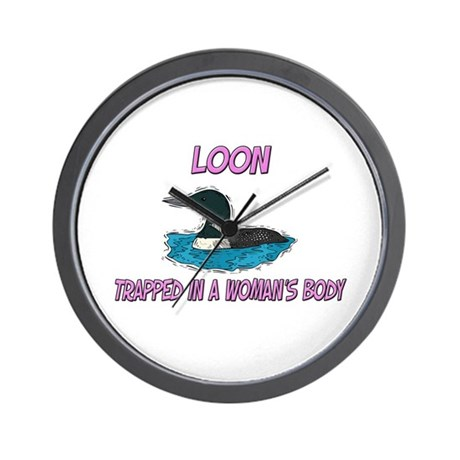 Loon Trapped In A Woman's Body Wall Clock