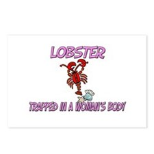 Lobster Trapped In A Woman's Body Postcards (Packa