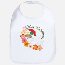 Santa Surrounded by Hibiscus Bib