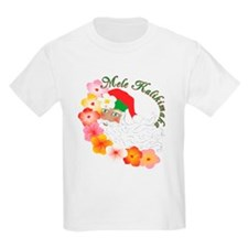 Santa Surrounded by Hibiscus T-Shirt