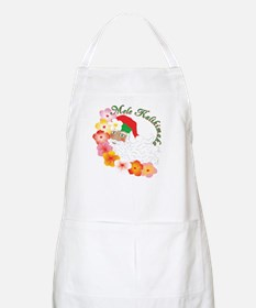 Santa Surrounded by Hibiscus BBQ Apron