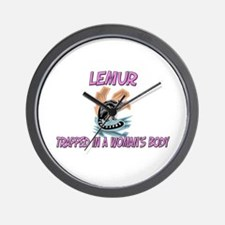 Lemur Trapped In A Woman's Body Wall Clock