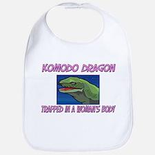 Komodo Dragon Trapped In A Woman's Body Bib