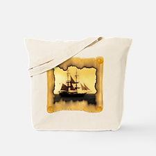 Pirate Ship Sailing the Sea Tote Bag