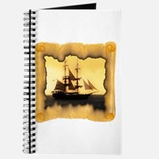 Pirate Ship Sailing the Sea Journal