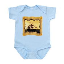 Pirate Ship Sailing the Sea Infant Bodysuit