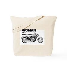 Funny Lady biker Tote Bag