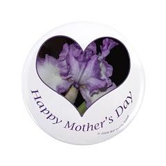 Purple Iris in Heart, Mother's Day 3.5