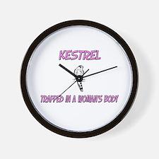 Kestrel Trapped In A Woman's Body Wall Clock