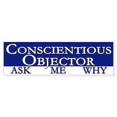 Conscientious Objector bumper sticker