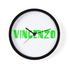Vincenzo Faded (Green) Wall Clock