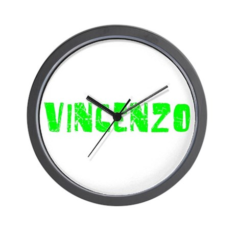Vincenzo Faded (Green) Wall Clock