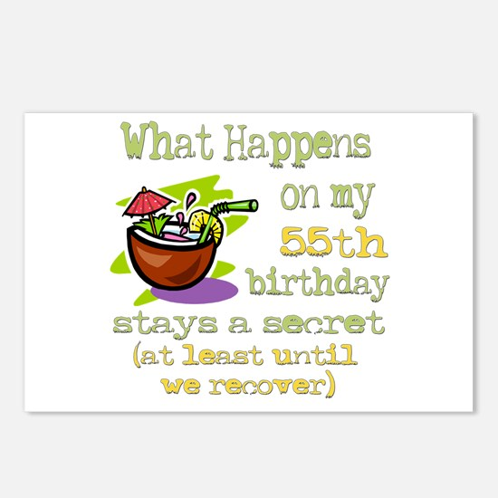 What Happens 55th Postcards (Package of 8)