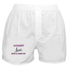 Jackrabbit Trapped In A Woman's Body Boxer Shorts
