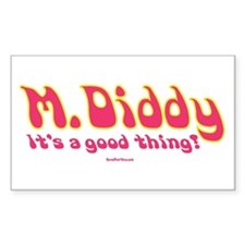 M Diddy Retro Rectangle Decal