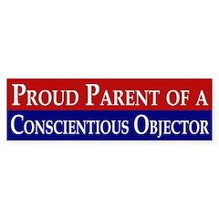 Proud Parent of a Conscientious Objector