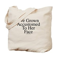 Accustomed To Her -TuneTitles Tote Bag