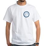 Celtic Mother Moon Design F/B White T-Shirt