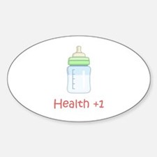 RPG Milk Health Potion Oval Decal
