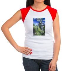 Green Bicycle Women's Cap Sleeve T-Shirt