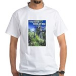 Green Bicycle White T-Shirt