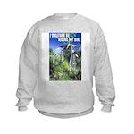 Green Bicycle Kids Sweatshirt