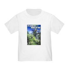Green Bicycle Toddler T-Shirt