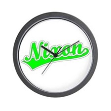 Retro Nixon (Green) Wall Clock