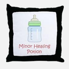 RPG Milk Healing Potion Throw Pillow