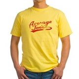 Average joes Mens Yellow T-shirts
