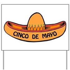 Cinco de Mayo Sombrero Yard Sign