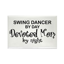 Swing Dancer Devoted Mom Rectangle Magnet
