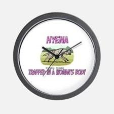 Hyena Trapped In A Woman's Body Wall Clock