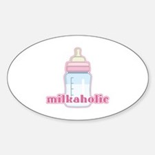 Milkaholic Pink Oval Decal
