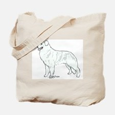 kuvasz Portrait Tote Bag
