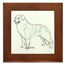 kuvasz Portrait Framed Tile