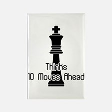 Thinks 10 Moves Ahead Rectangle Magnet
