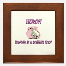 Heron Trapped In A Woman's Body Framed Tile