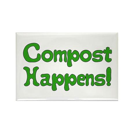 Compost Happens! Rectangle Magnet