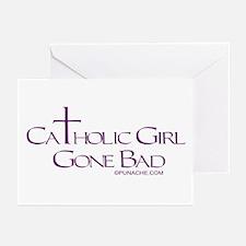 CATHOLIC GIRL GONE BAD Greeting Cards (Package of
