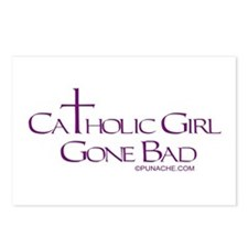 CATHOLIC GIRL GONE BAD Postcards (Package of 8)
