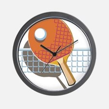 Table Tennis Wall Clock
